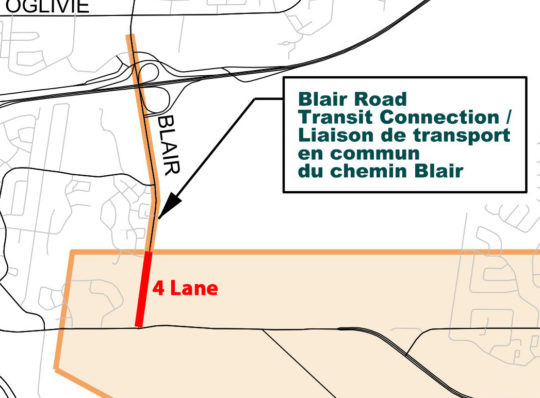 Great News! Blair Road from Innes to Blair LRT Station Priority